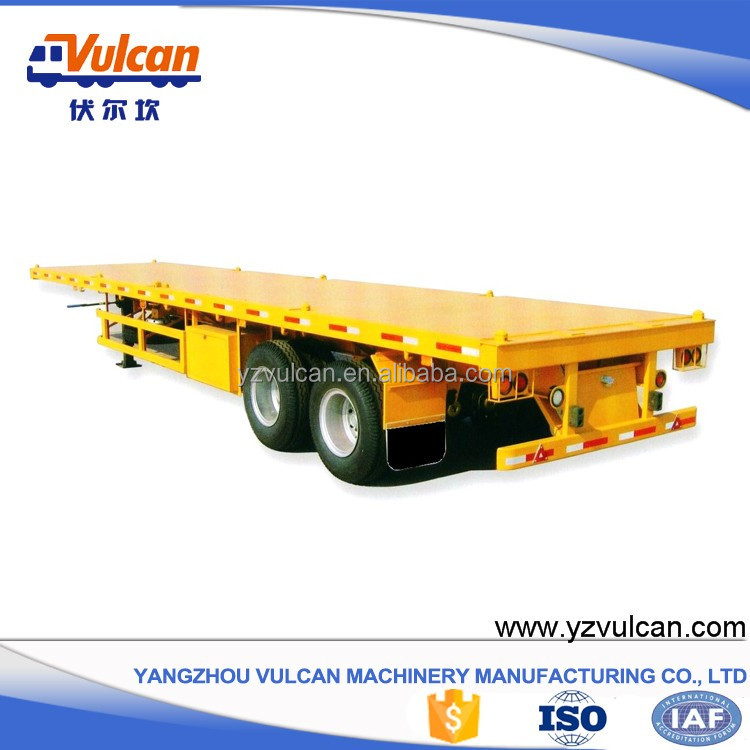 2 axle air bag suspension container high bed trailer sale