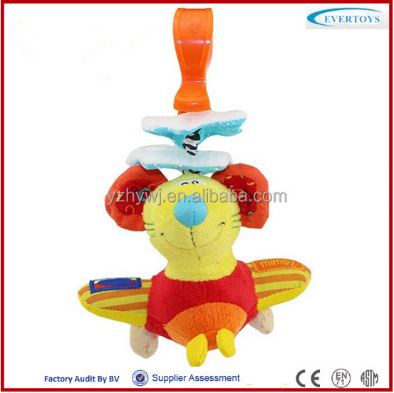 mouse musical hanging plush toy baby crib bell