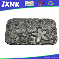 fashion accessories brand name embossed metal logo