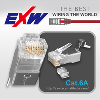 Cat6A or Cat7 Rj45 8P8C Shield Modular plug