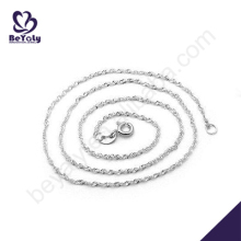 Simple design cheap silver chain necklace in roll