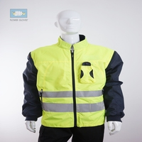 EN471 high visibility waterproof winter fluorescent jacket with coat