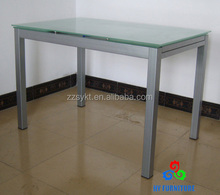 Metal base extendable glass dining tables wholesale