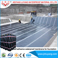China manufacturer supply self adhesive waterproof membrane for building roof
