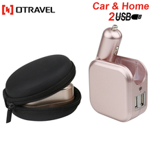 2017 Mobile Phone Car Charger Universal Smart Usb Travel Charger 2 port usb travel accessory