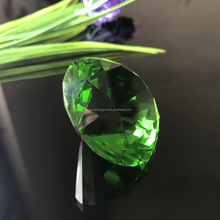 Green Shinning Polished Home decorative 30mm Crystal Glass Diamond (JHCD003)