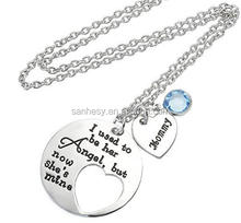 Mommy Blue Jewelry Necklace Engraved Necklace