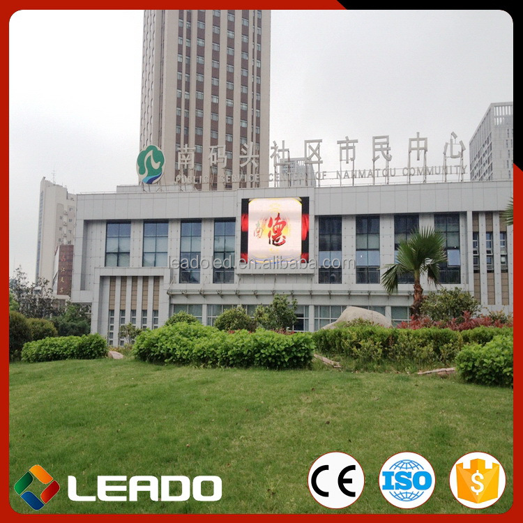 Good Visual Permanent Installation outdoor screen p6 smd led display
