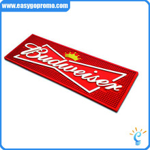 Soft PVC Rubber Bar Mat for Beer and Drink Promotion & OEM 3D Logo Custom Rubber Bar Mat