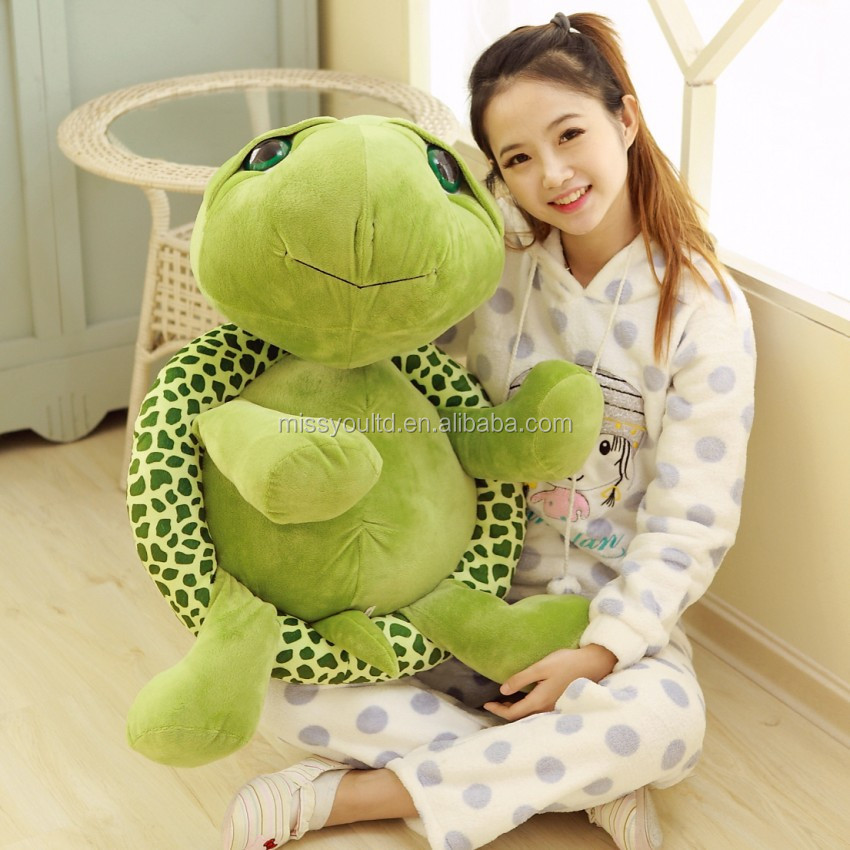 Giant super soft plush green sea turtle toys