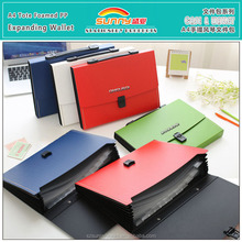 Portable A4 Hard Plastic Expanding Travel Stationery File Wallet With Plastic Lock