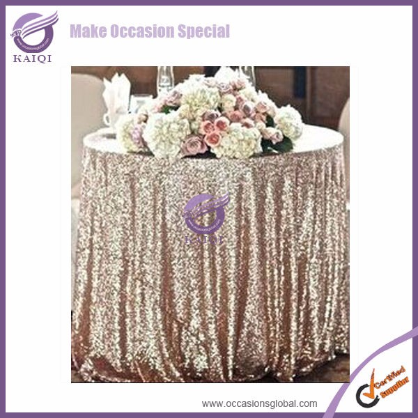 TX28043Eco-Friendly Sequin Tablecloth for Wedding Table Cloth