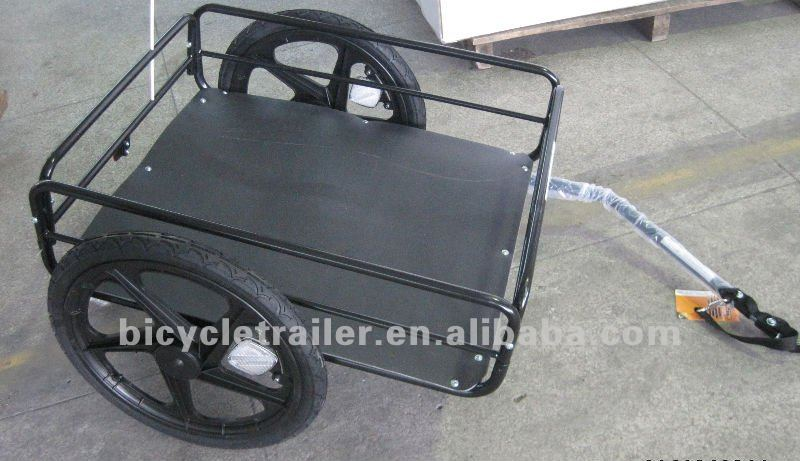 Simple bicycle cargo trailer