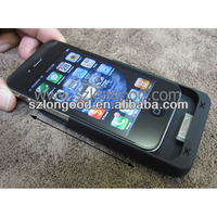 External Back Power Bank Charger Backup Battery Case For iPhone 4 4G 4S BLACK