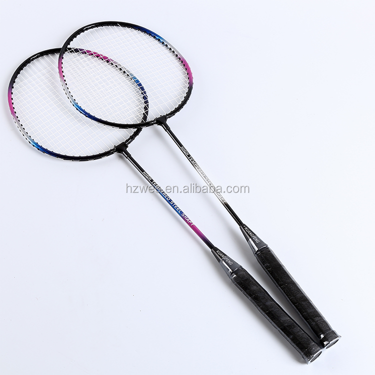 Professional Iron Badminton Racket Set 4 Rackets 3 Balls With Bag