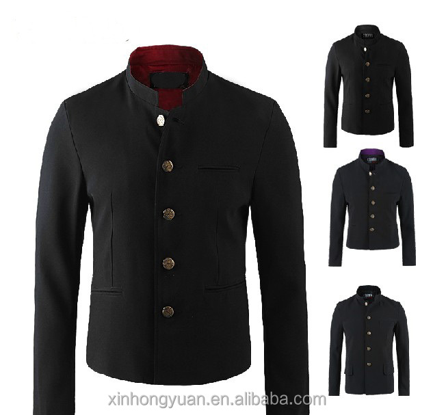 Black pattern student man polycotton custom school student blazer