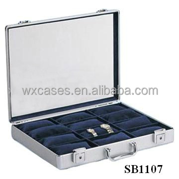 Professional aluminum watch box,watch case wholesales for 24 watches with different color options manufacturer