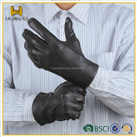 Wholesale mens leather motorcycle gloves winter driving leather gloves
