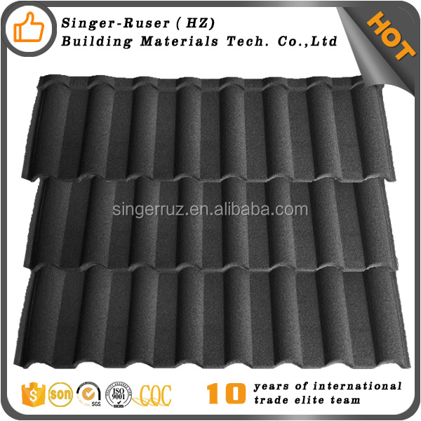 Hot sale sun stone coated metal roof tile for new roofing material