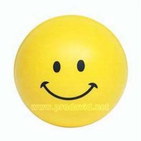 PU Smile face promotional toy foam stress ball stress relief