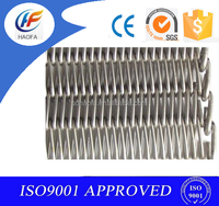 Spiral 65Mn chain linked wire mesh belt conveyor selected quality