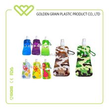 Food Grade BPA Free plastic folding collapsible sport water bottle wholesaler