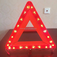 Plastic emergency reflective tool kit led warning triangle plate