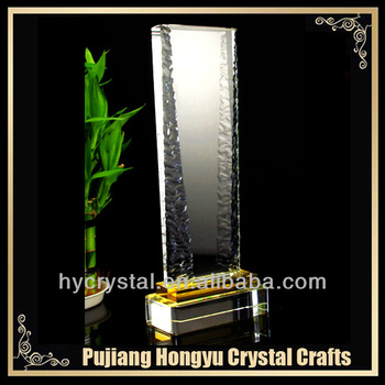 fashion blank crystal glass plaque award