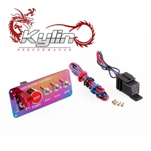 Kylin Racing Neo Chrome 12V Racing ignition Switch Kit Car Electronics Switch Panel with 3 toggle