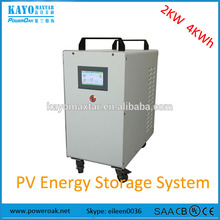 2KW 220V 4kwh complete solar home energy system ess portable solar power station off-grid for home