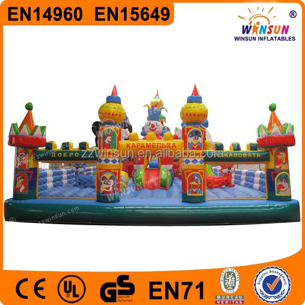 Amusement Colorful Hot Bouncy Inflatable Giant Combo Game