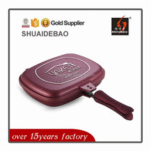2015 most popular high quality happy call double side grill pan