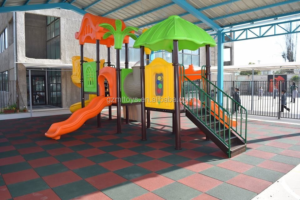 China cheap safety outdoor playground gym rubber floor mat for Outdoor safety flooring
