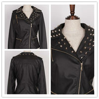 outdoor lightweight women black beading jacket