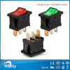 round illuminated light UL VDE 16A boat rocker switch