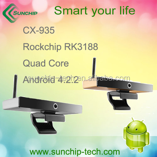 RK3188 quad core box, android 4.2.2 OS built in SKYPE Camera full hd 1080p porn video android tv box