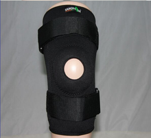 Black Adjustable Leg Brace/Sleeve/Support, Spring Knee Support