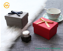 Wholesale custom size and logo red wedding favor cardboard paper gift box with bowknot