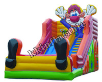Funny clown inflatable slide for kids outdoor cartoon slides ,inflatable giant slide