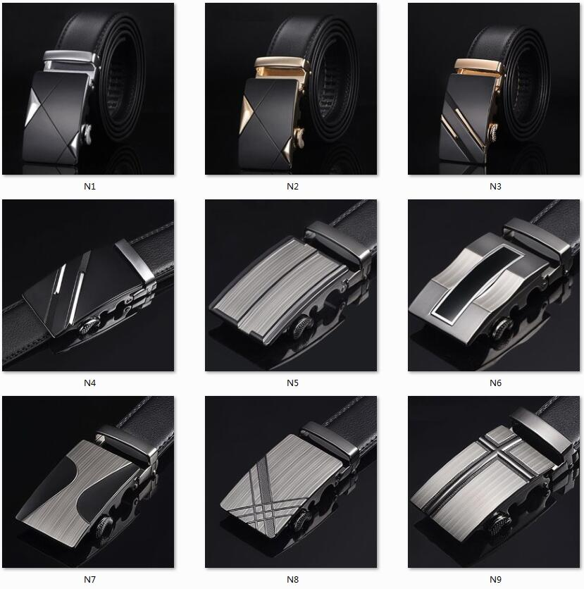 Men Top Quality Genuine Luxury Leather Belts for Men Strap Male Metal Automatic Buckle Famous Brand Belt