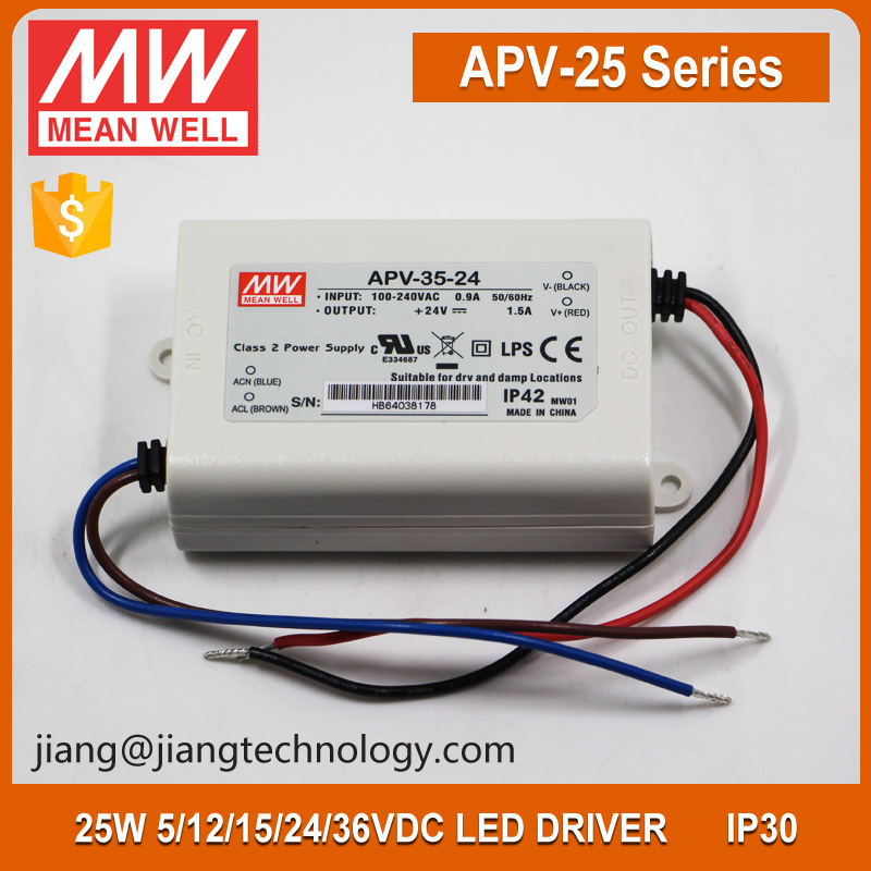 35W 36V 1A Power Supply APV-35-36 Meanwell IP64 LED Driver
