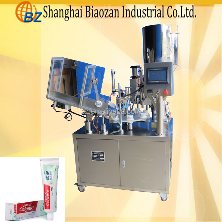 rotary plastic tube filling sealing machine/paste filling machine