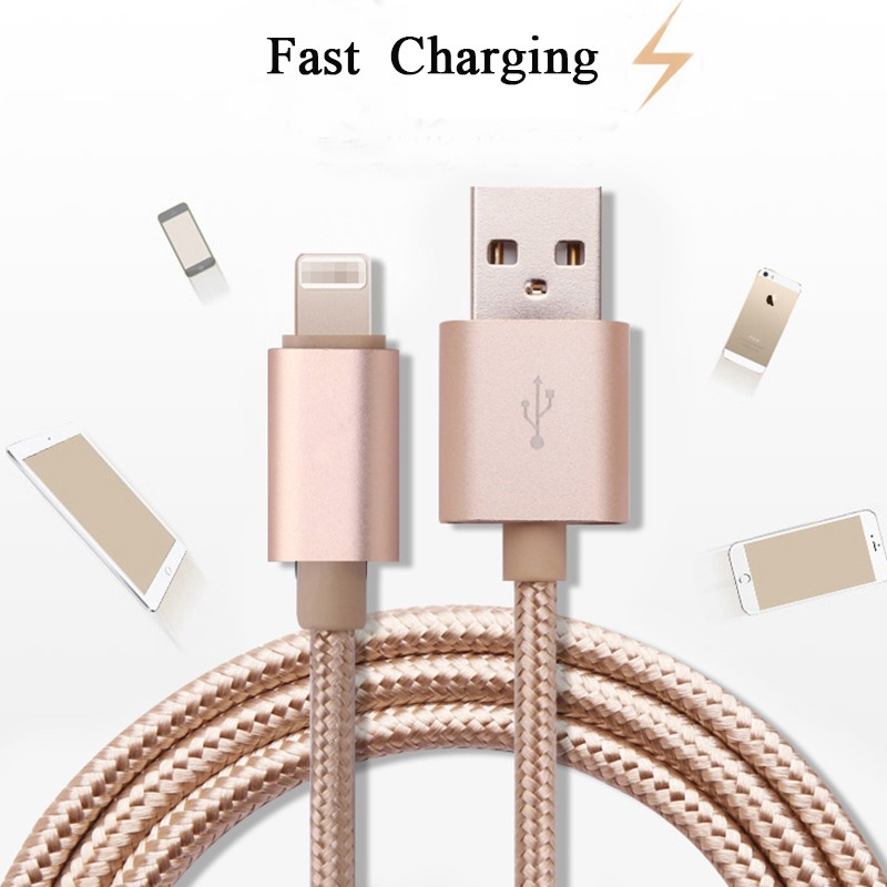 High quality Nylon Braided Cable USB Charging Cord with Aluminum Connector for IPhone 6 7 plus --------- Laudtec