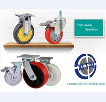 Best Quality Low Price factory supply polyurethane fixed locking caster wheel