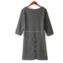 monroo western new casual mid sleeve pocket middle aged women fashion dress
