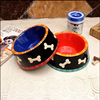 Round Shape Cat Dog Food Bowl Water Pet food Ceramic Dog Bowl.