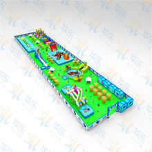 QiHong different types commercial giant inflatable floating water park