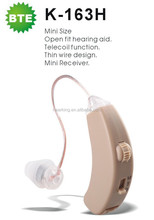 BTE digital hearing aid with T-coil function for hearing loss deafness low price listening devices