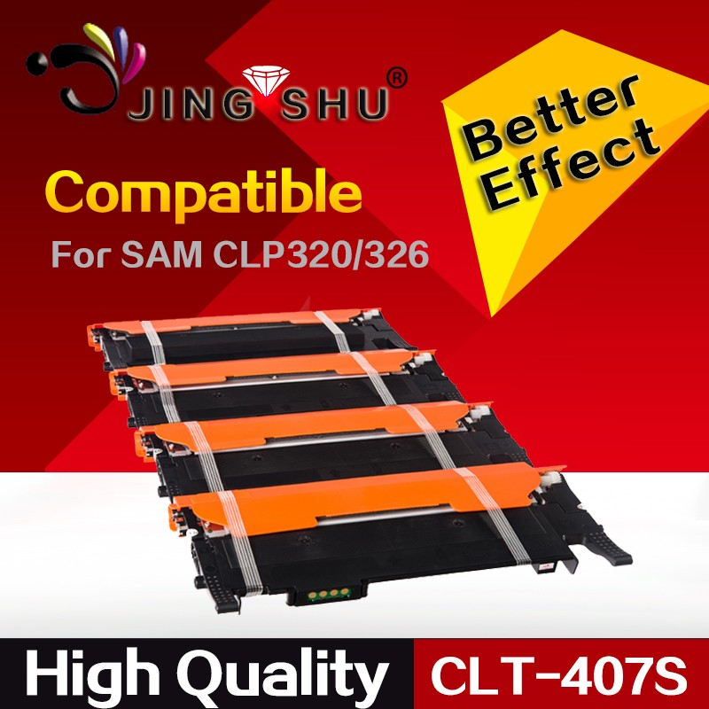 CLT-407S 407 toner cartridge for Samsung CLP320/326/CLX3180/3186/3185/3285 with chip