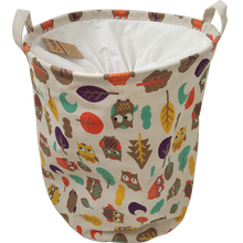 Collapsible laundry or toy fabric storage basket